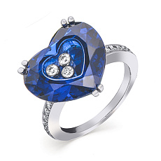 Кольцо Chopard 'So Happy' Hearts Blue Crystal and Diamond